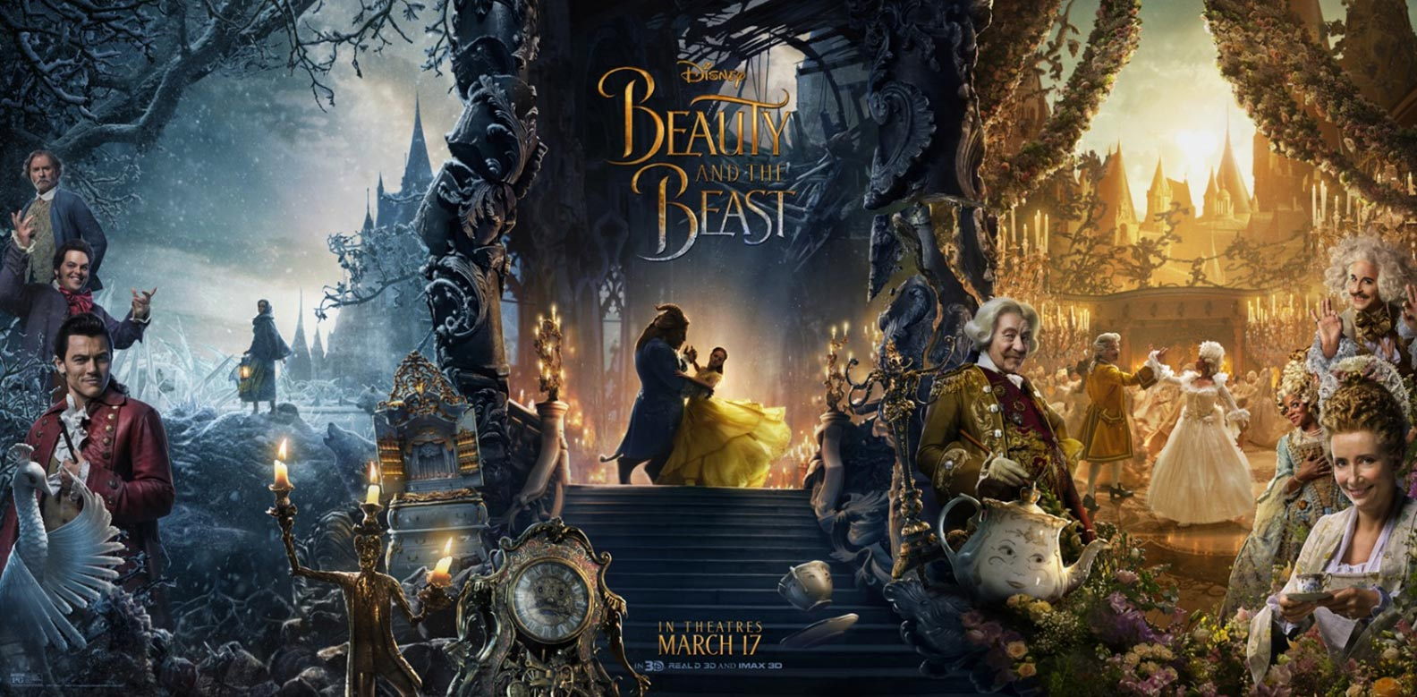 「beauty and the beast 2017 poster」の画像検索結果