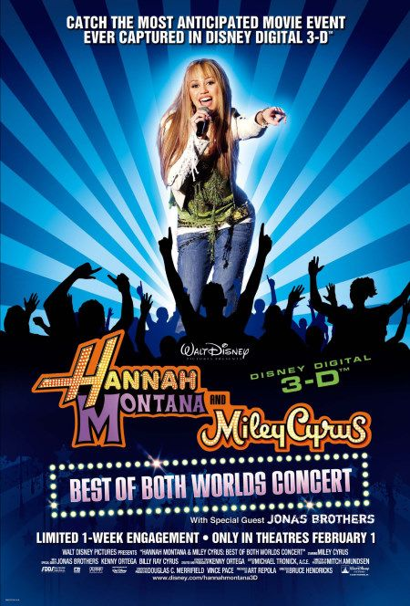 Hannah Montana/Miley Cyrus: Best of Both Worlds Concert Tour 3-D Poster #1