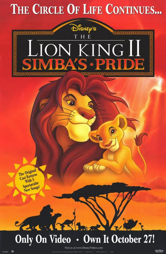 the lion king 2  simba u0026 39 s pride  1998  poster  1