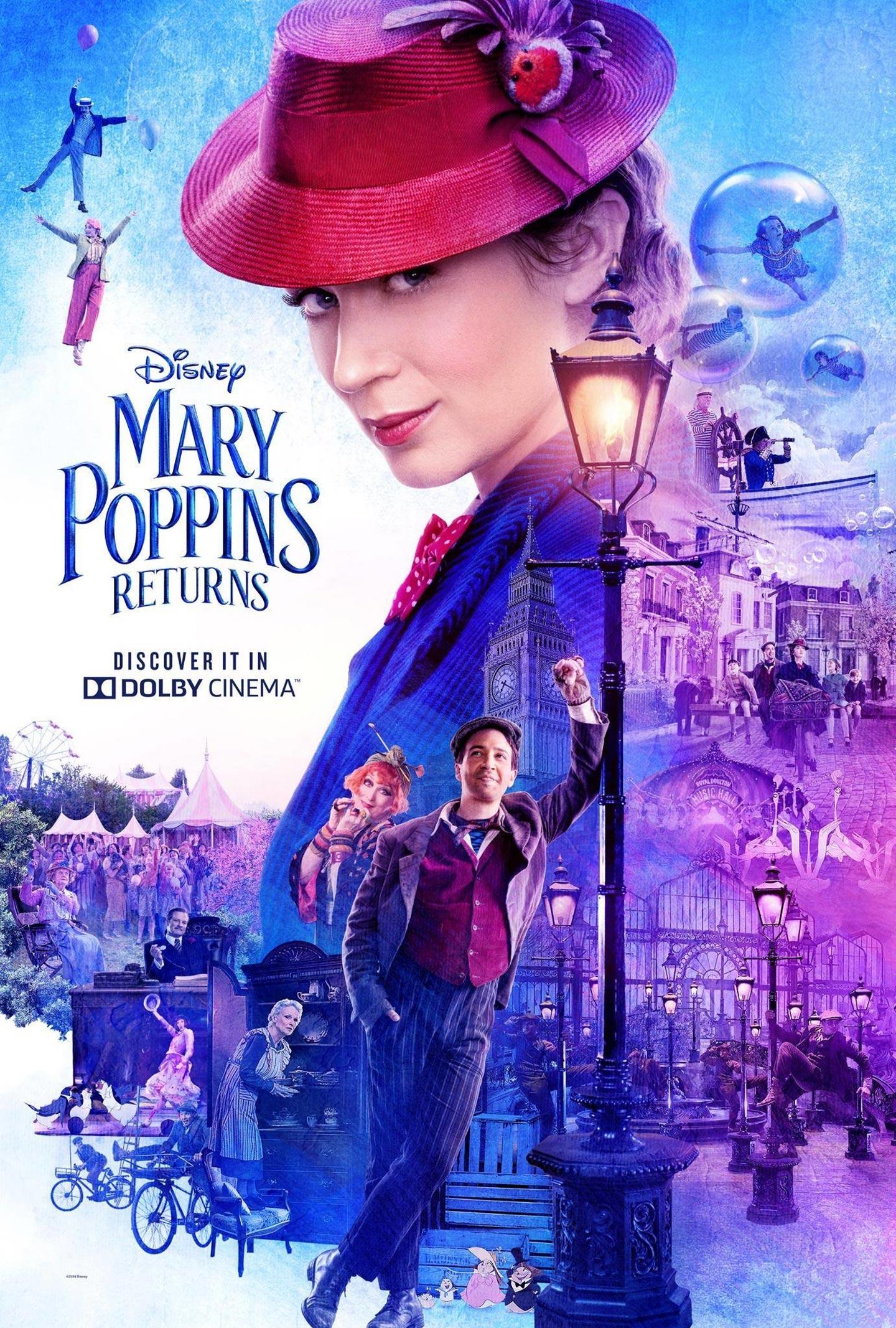 Resultado de imagen de mary poppins returns poster