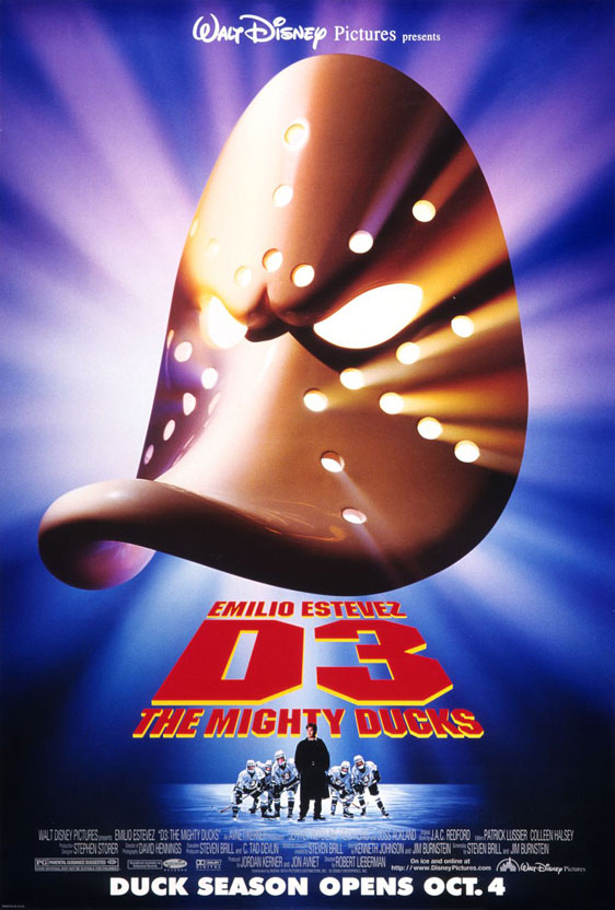 D3: The Mighty Ducks Poster #1