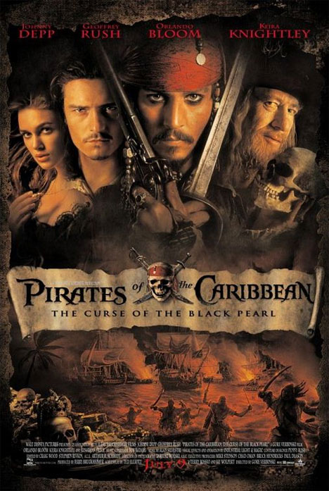 Pirates of the Caribbean: The Curse of the Black Pearl Poster #1