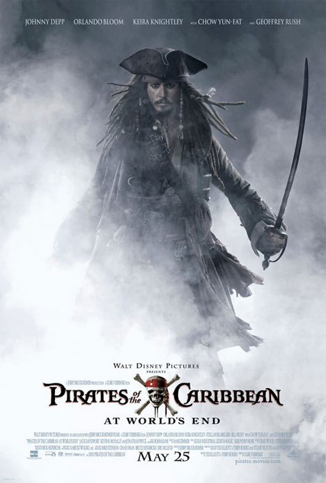Pirates of the Caribbean: At World's End Poster #1