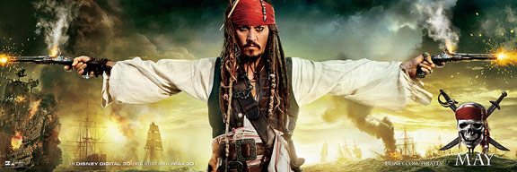Pirates of the Caribbean: On Stranger Tides Poster #3