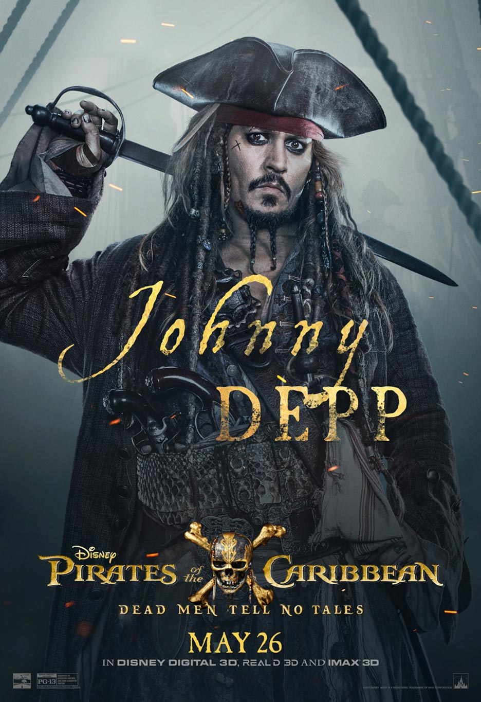 Pirates of the Caribbean: Dead Men Tell No Tales Poster #7