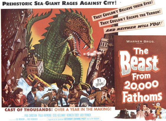 The Beast from 20,000 Fathoms Poster #2