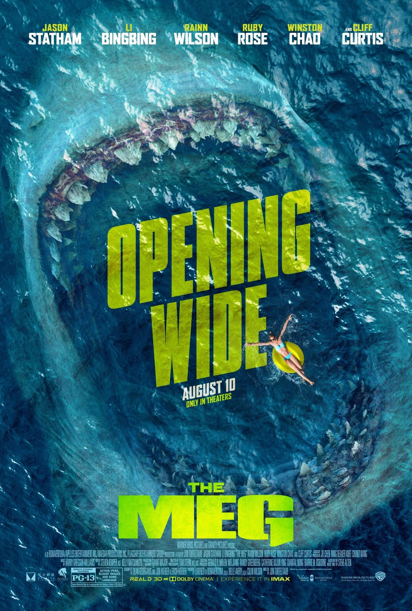the meg 2018 poster 2 trailer addict