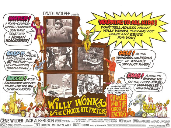 Willy Wonka and the Chocolate Factory Poster #2