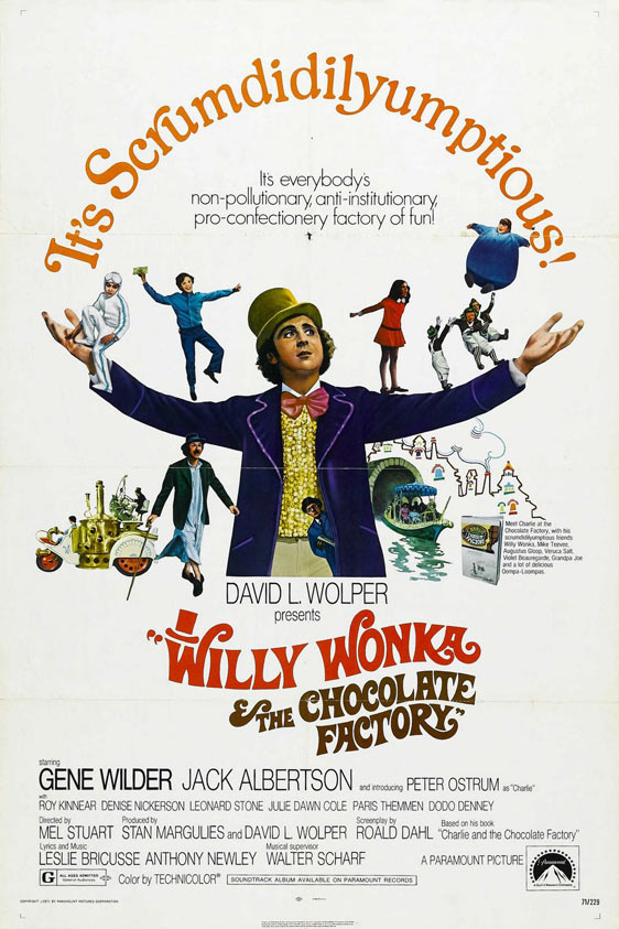 Willy Wonka and the Chocolate Factory Poster #1