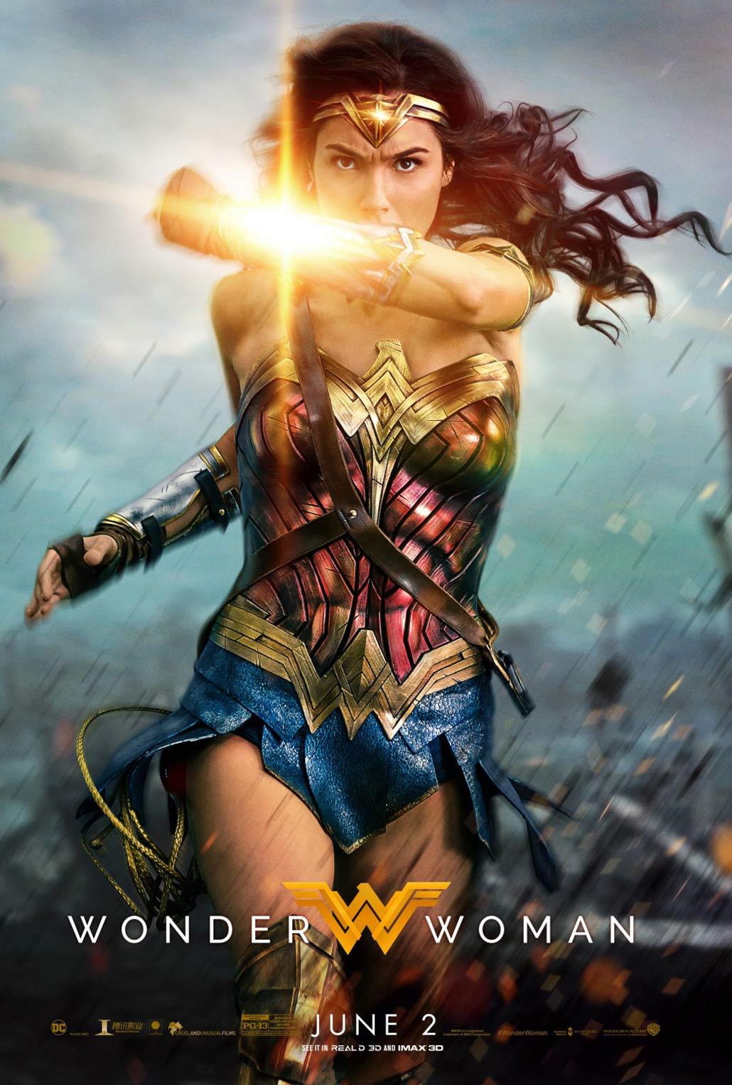 Resultado de imagen de poster wonder woman 2017