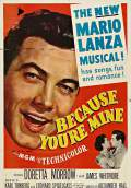 Because You're Mine (1952) Poster #1 Thumbnail